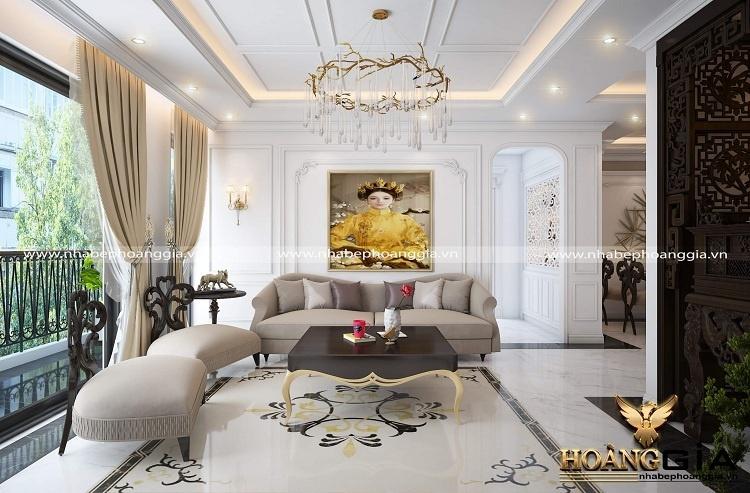 thiết kế phòng khách chung cư cao cấp