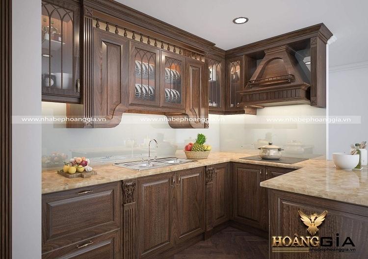 thiết kế tủ bếp tân cổ điển nhà chung cư