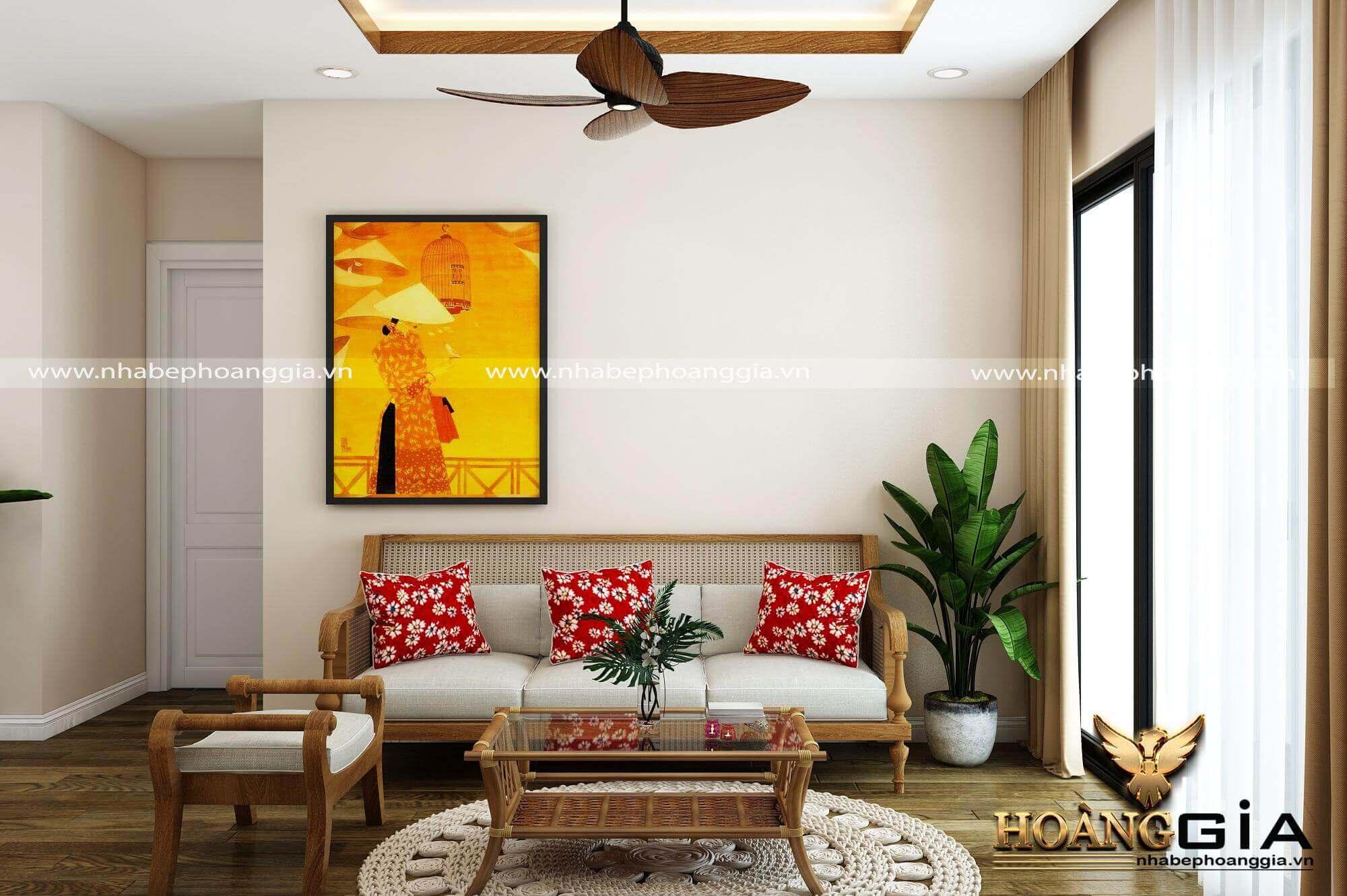 mẫu sofa gỗ sồi mamg