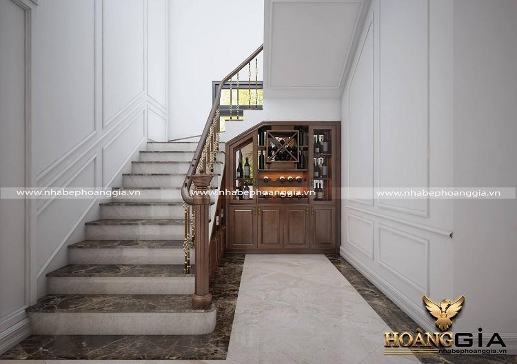 thiết kế cầu thang biệt thự tân cổ điển