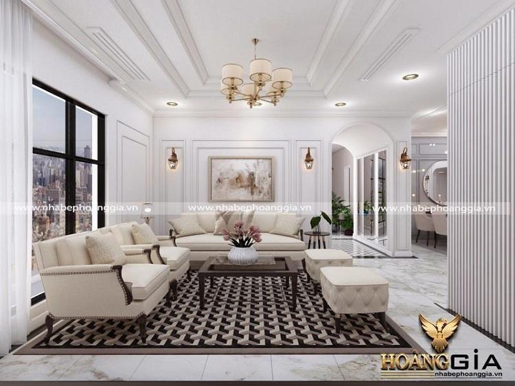thiết kế nội thất bán cổ điển