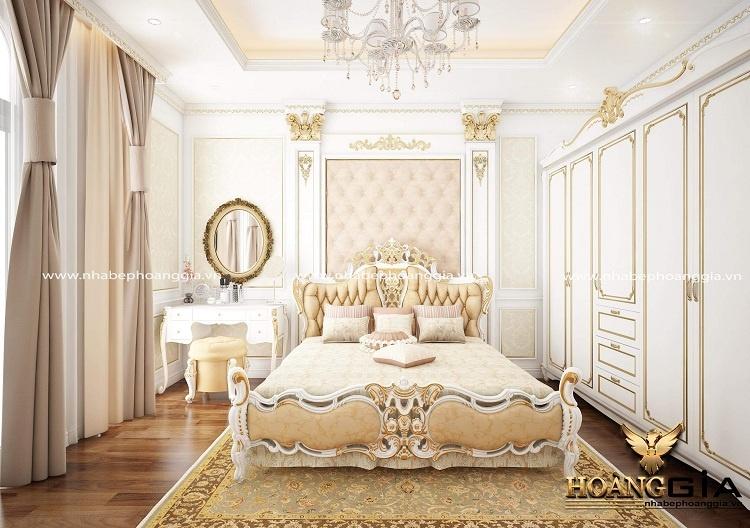 thiết kế phòng ngủ biệt thự tân cổ điển