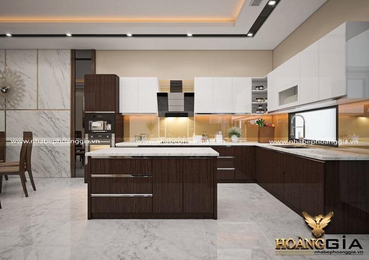 tủ bếp 2 tầng đẹp nhất 2020