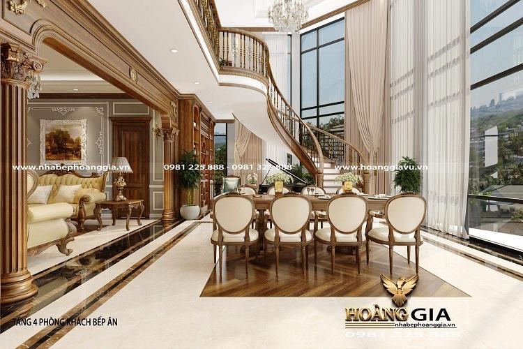 thiết kế nội thất tân cổ điển cho căn hộ penthouse