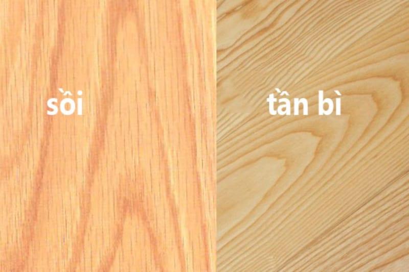 so sánh gỗ sồi và gỗ tần bì