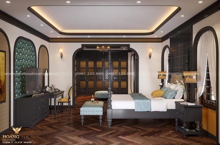 thiết kế phòng ngủ Đông Dương Indochine