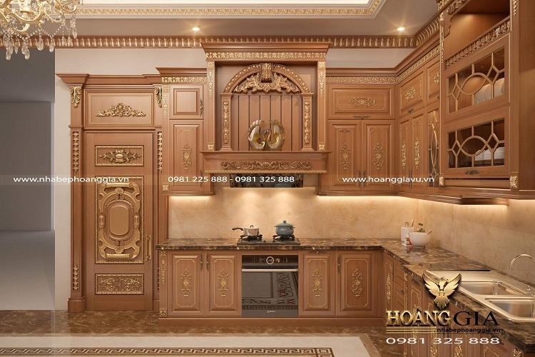 tủ bếp tân cổ điển cao cấp