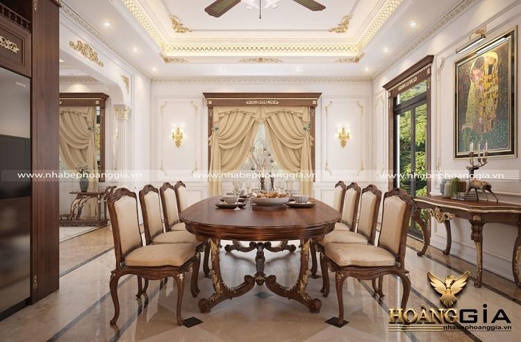 bộ bàn ghế ăn 8 ghế tân cổ điển