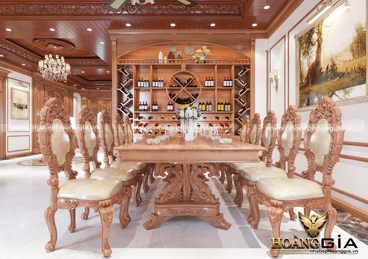 mẫu bàn ăn gỗ gõ đỏ 10 ghế