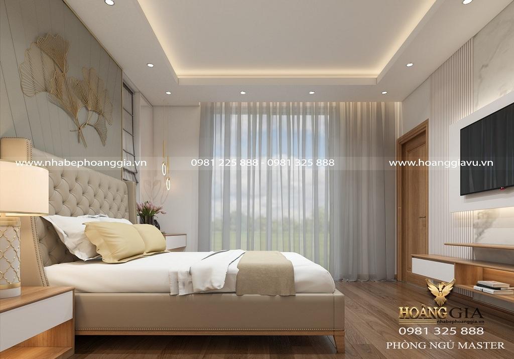 thiết kế phòng ngủ tân cổ điển nhẹ nhàng