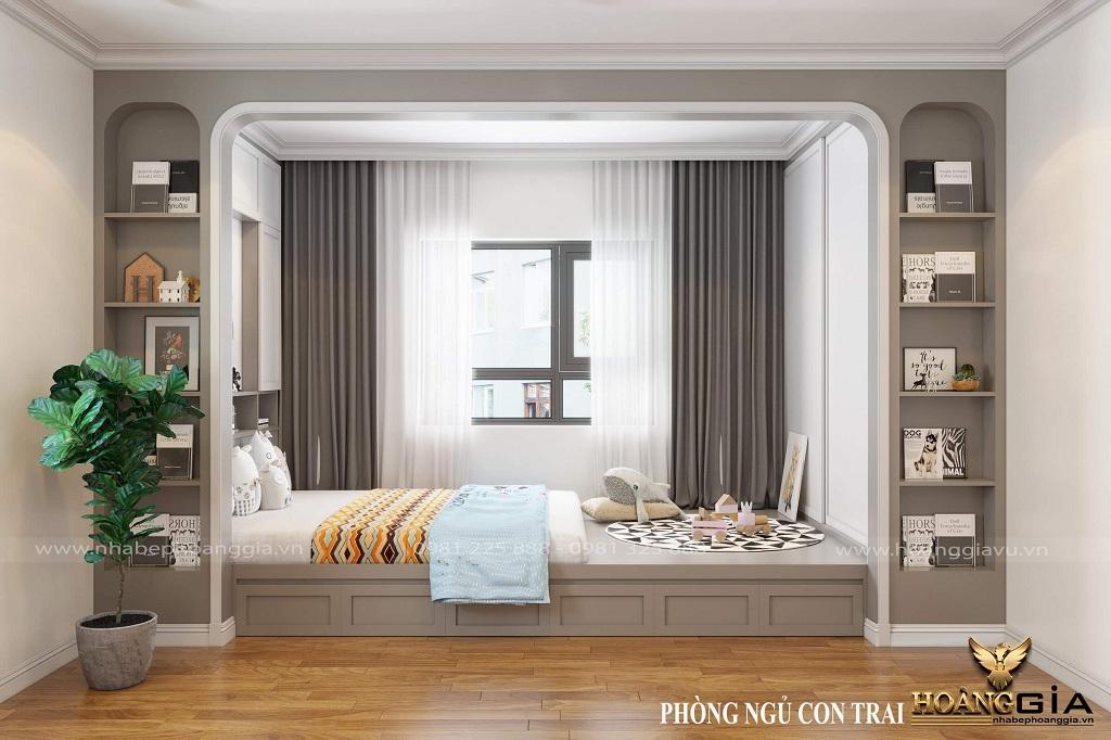 thiết kế phòng ngủ hiện đại cho bé trai