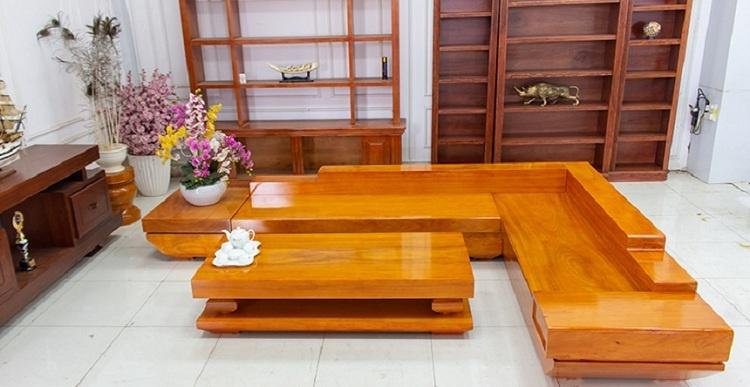 kích thước sofa gỗ nguyên khối