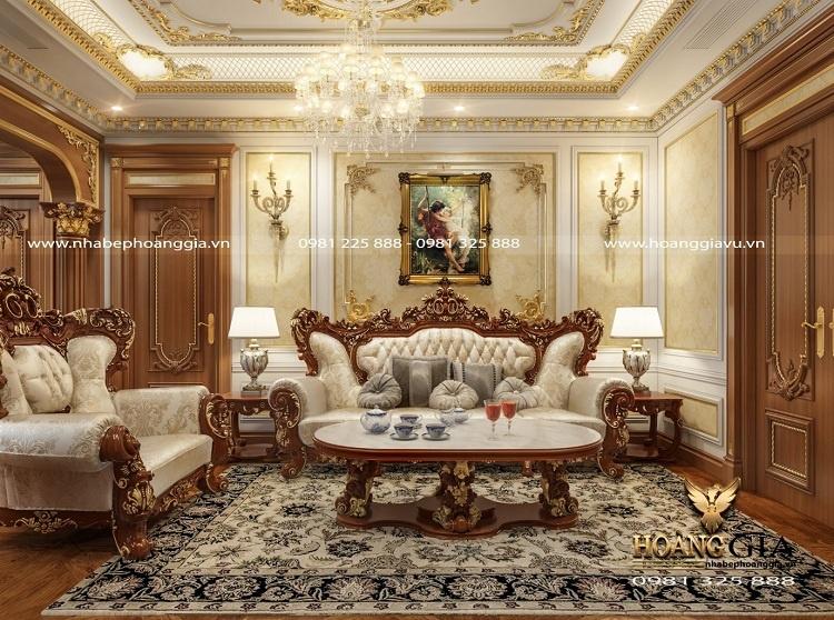 mẫu sofa gỗ gõ đỏ đẹp nhất 2021