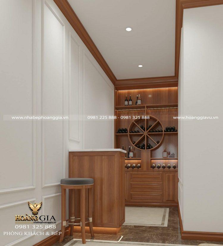 thiết kế nội thất bếp ăn tân cổ điển