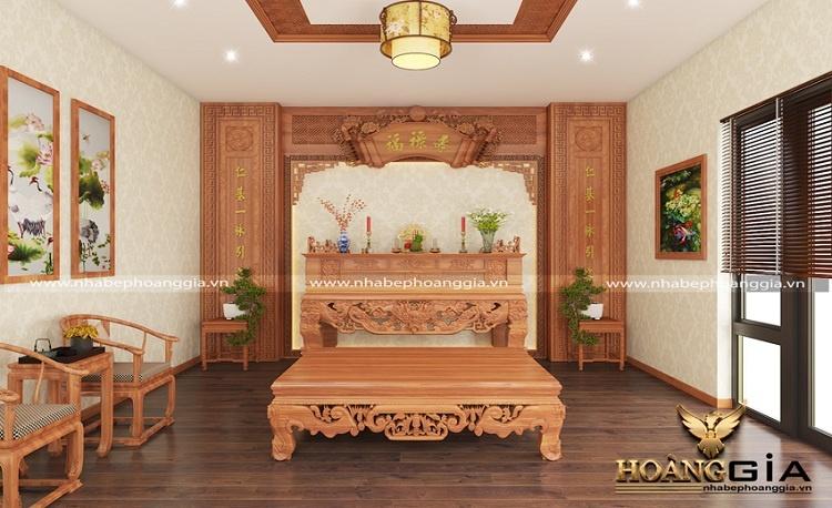 mẫu phòng thờ biệt thự đẹp