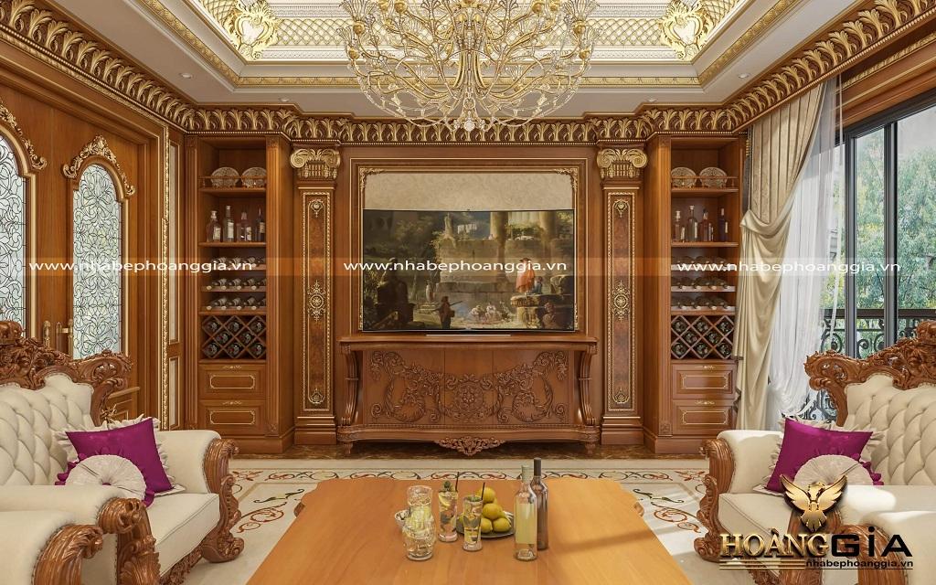 thiết kế nội thất tân cổ điển cho phòng khách biệt thự