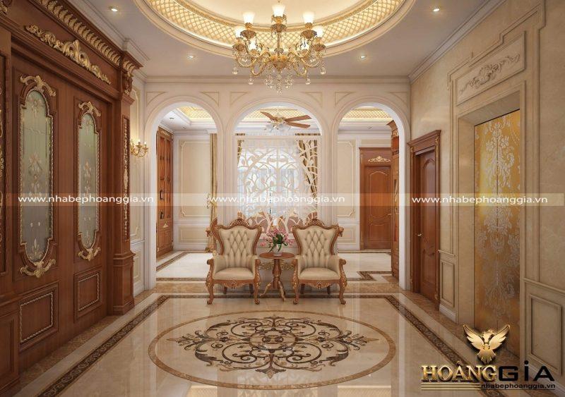 thiết kế nội thất phòng khách tân cổ điển