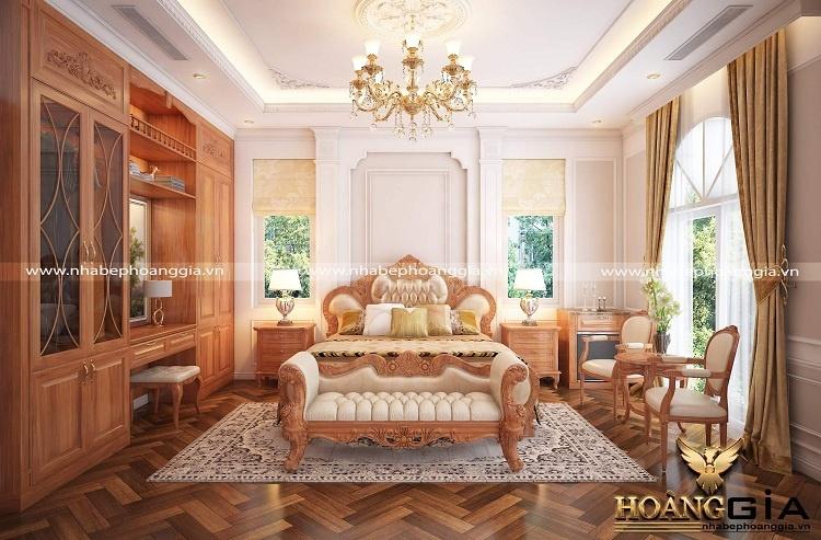 thiết kế phòng ngủ master tân cổ điển