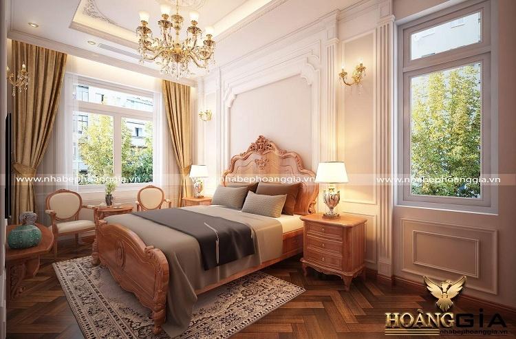 thiết kế phòng ngủ tân cổ điển cho ông bà