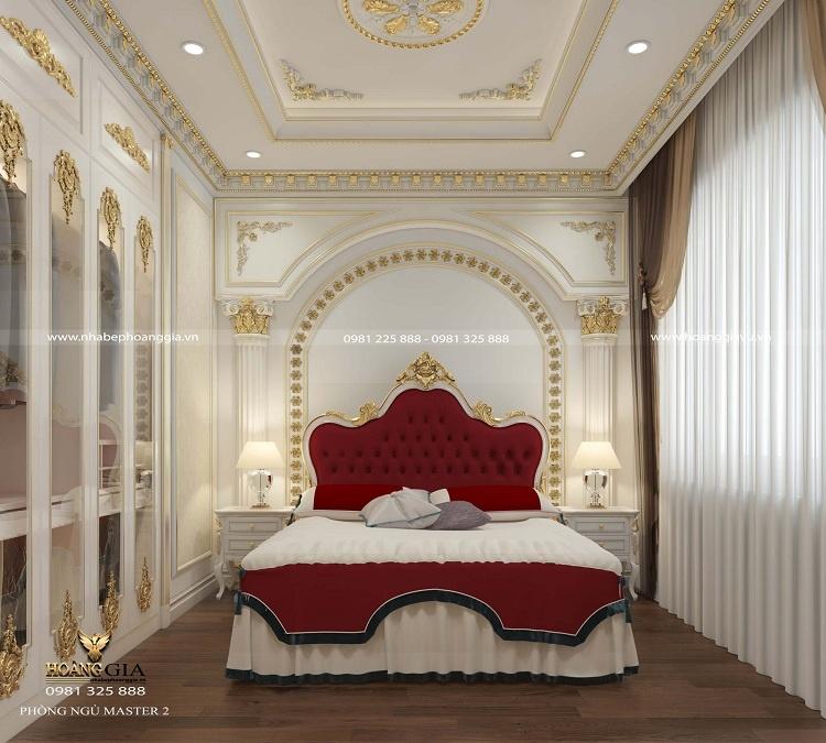 thiết kế phòng ngủ tân cổ điển cho khách
