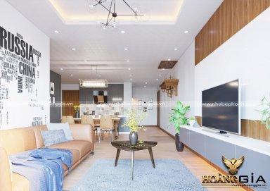 Mẫu thiết kế phòng khách chung cư phong cách hiện đại PKHD02