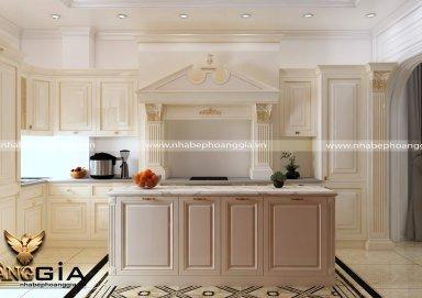 Mẫu tủ bếp tân cổ điển TBTCD25