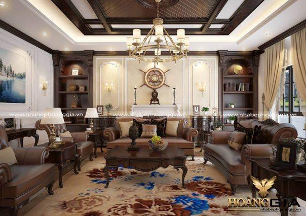 Thiết kế nội thất tân cổ điển biệt thự nhà anh Minh TP Hạ Long