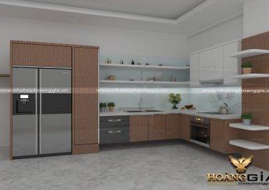 Mẫu tủ bếp gỗ Lamilate 02