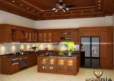Mẫu tủ bếp gỗ tự nhiên 25