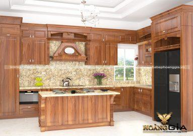 Mẫu tủ bếp đẹp gỗ cẩm 06