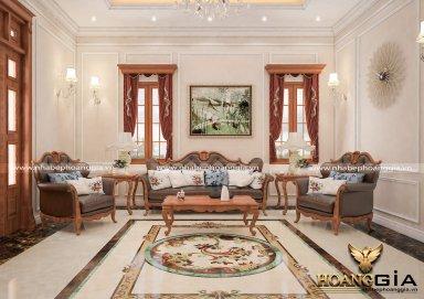 Thiết kế nội thất biệt thự với gỗ gõ đỏ