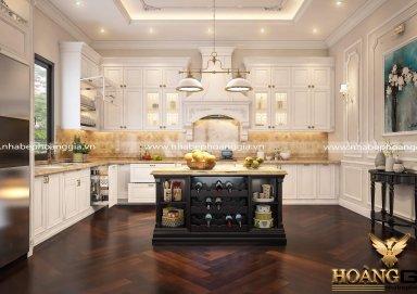 Thiết kế nội thất tân cổ điển cho phòng bếp