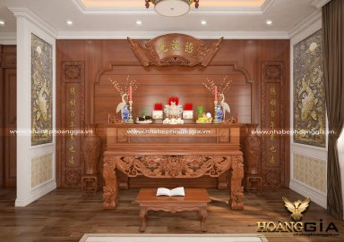 Mẫu phòng thờ đẹp cho nhà Biệt Thự