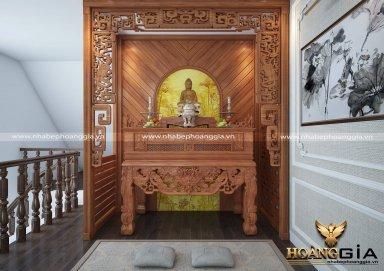 Bàn thờ đẹp cho nhà chung cư bằng gỗ Gõ Đỏ