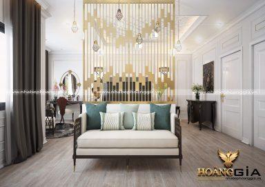 Ấn tượng mẫu thiết kế phòng ngủ tân cổ điển nhà biệt thự