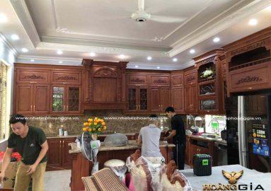 Ảnh thực tế thi công tủ bếp nhà chị Hằng (An Dương, Hải Phòng)