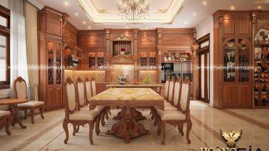 Cuốn hút với bộ bàn ăn 8 ghế tân cổ điển sang trọng đầy cuốn hút