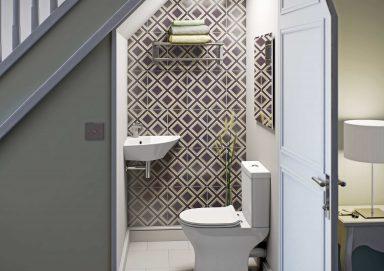 Giải đáp: Có nên đặt nhà vệ sinh dưới cầu thang không?