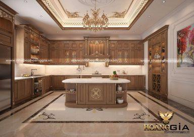 [Tư vấn] Có nên đóng tủ bếp tân cổ điển không?