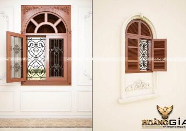Mẫu cửa sổ trong kính ngoài chớp đầy tiện nghi và sang trọng