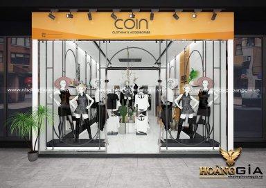 Thiết kế showroom thời trang với gam màu đen