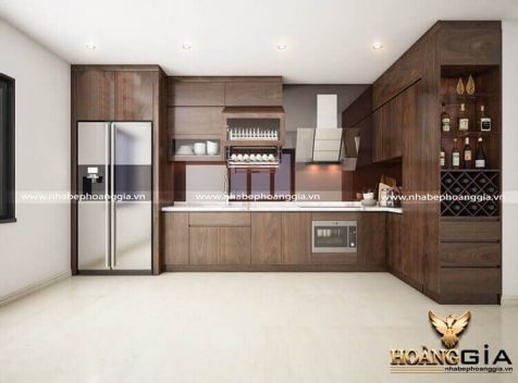 Địa chỉ đóng tủ bếp gỗ óc chó cao cấp tại Hà Nội uy tín