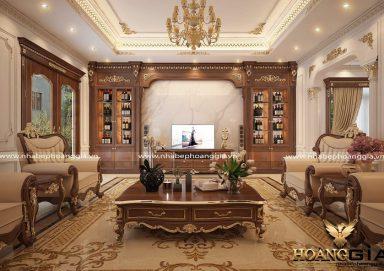 Sức hút của các mẫu kệ gỗ trang trí phòng khách đẹp sang trọng