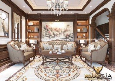 Mẫu phòng khách đẹp cho gia chủ thượng lưu phong cách tân cổ điển PKTCD12