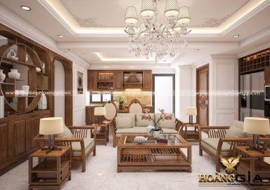 Mẫu phòng khách hiện đại theo phong cách Trung Hoa đầy ấn tượng
