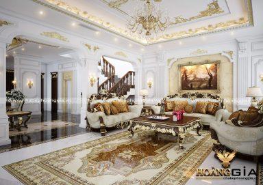 Thiết kế nội thất tân cổ điển biệt thự nhà chị Thảo Bắc Giang