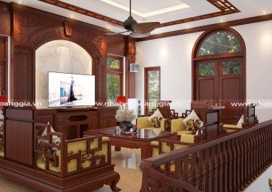 Mẫu thiết kế phòng khách biệt thự tân cổ điển PKBTTCD02