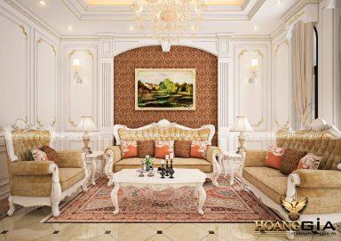 Mẫu thiết kế phòng khách Luxury tân cổ điển đẳng cấp 2019