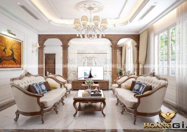 Mẫu thiết kế phòng khách biệt thự tân cổ điển PKTCD07