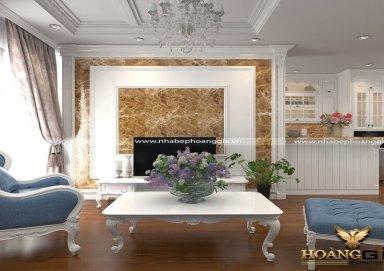 Mẫu thiết kế phòng khách đẹp sang trọng đẳng cấp phong cách tân cổ điển PKTCD10